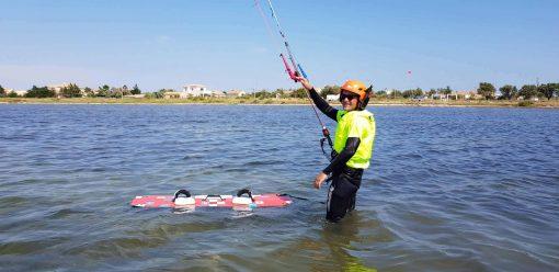 cours kitesurf en eau peu profonde