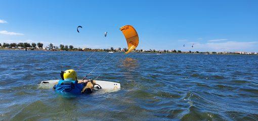 Cours Kitesurf Enfants & Ados : entrainement au waterstart