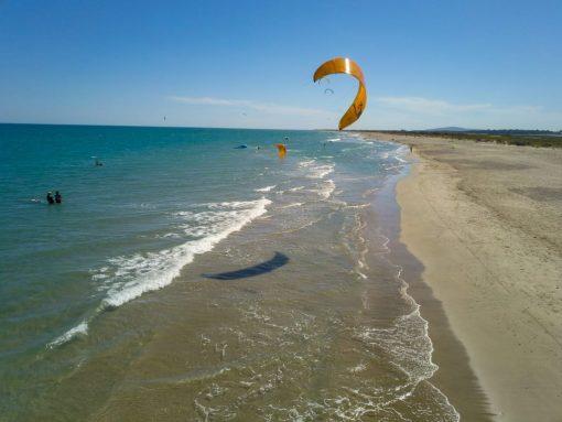 La plage des Aresquiers, spot idéal pour la navigation surveillée