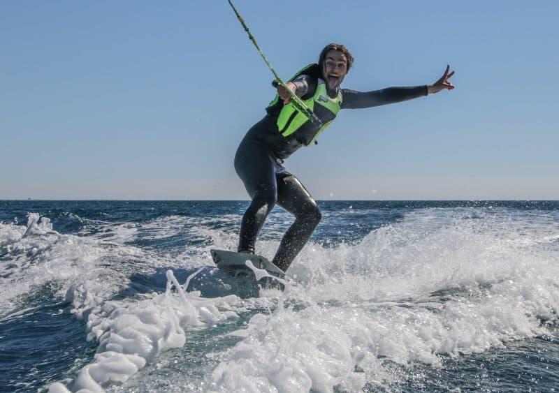 Un élève satisfait de sa session Wake Kite