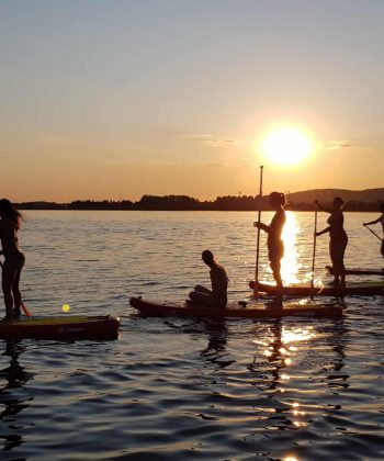balade paddle sunset