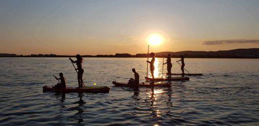 balade paddle sunset