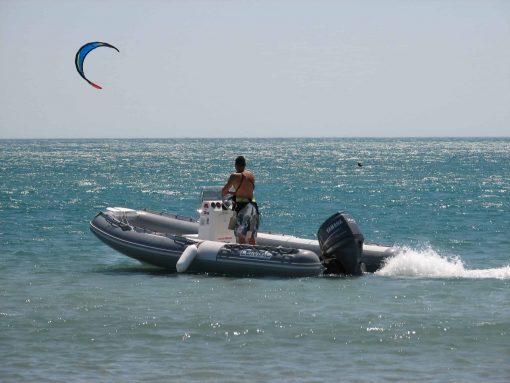 navigation surveillée en kitesurf à Montpellier