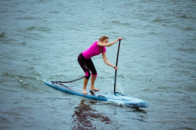 coaching paddle en SUP Race