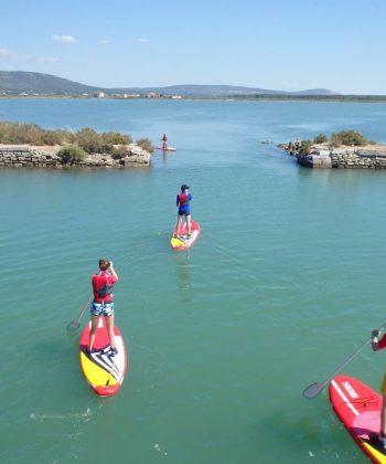 paddle sur les étangs de Frontignan