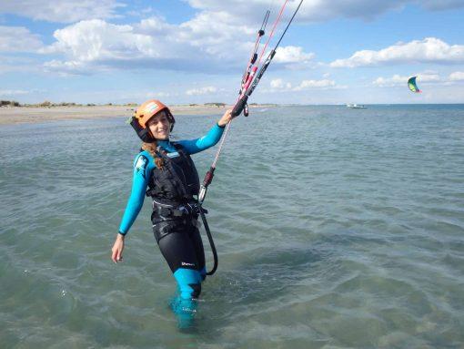 cours particuliers de kitesurf à Montpellier