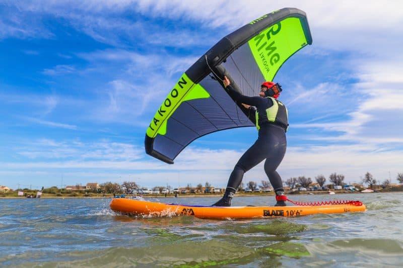 Apprentissage du wing surf
