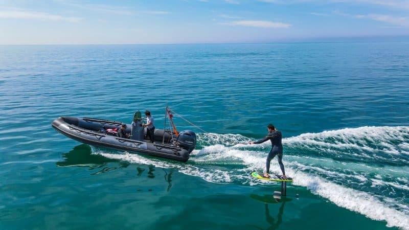 Session de Wake Foil en mer