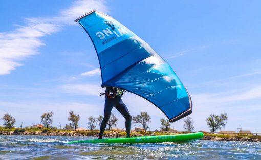 Session Wing Surf à l'étang